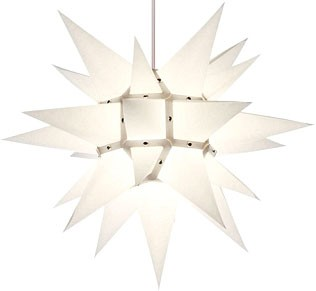 Herrnhut star, white