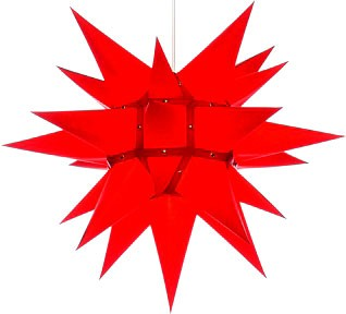 Herrnhut star, red