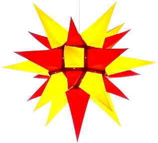 Herrnhut star, yellow/red