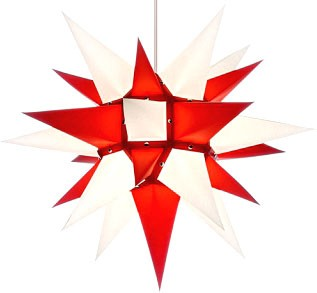 Herrnhut star, white/red