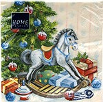 table napkins, painted rocking horse