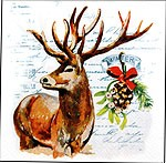 Servietten Winter Stag