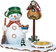 incense smoker imp, snowman with tealight