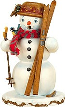 incense smoker, winter children snowman