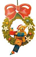 tree ornament, teddy - Advent wreath