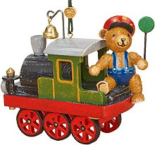 tree ornament, loco with teddy