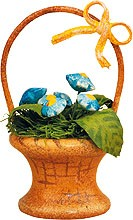miniatures - flower basket forget-me-not