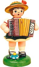 music children girl with accordion