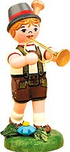 music children boy with trumpet