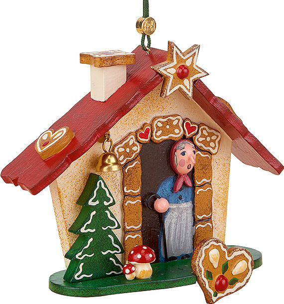 tree ornament, gingerbread house