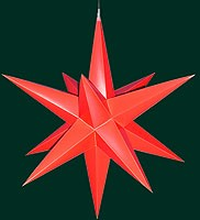 Hasslauer Advent star for outside, red