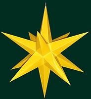 Hasslauer Advent star for outside, yellow