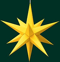 Hasslauer Advent star, yellow