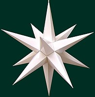 Hasslauer Advent star, white
