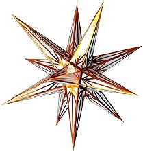 Hasslauer Advent star, white with copper pattern