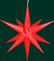 big Hasslauer Advent star for outdoor, red
