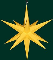 big Hasslauer Advent star for outdoor, yellow