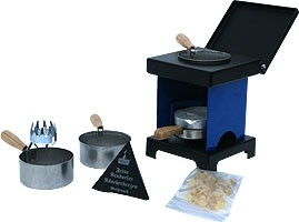 stool stove - The Small All-Rounder, blue/black