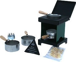 stool stove - The Small All-Rounder, green/black