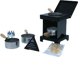 stool stove - The Small All-Rounder, silver/black