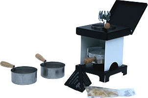 stool stove - The Small All-Rounder, white/black
