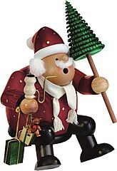 incense smoker, edge stool Santa Claus, large