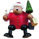 incense smoker, edge stool Santa Claus