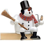 incense smoker, edge stool snowman