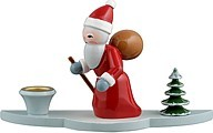 Candlestick Santa Claus 3-pieces