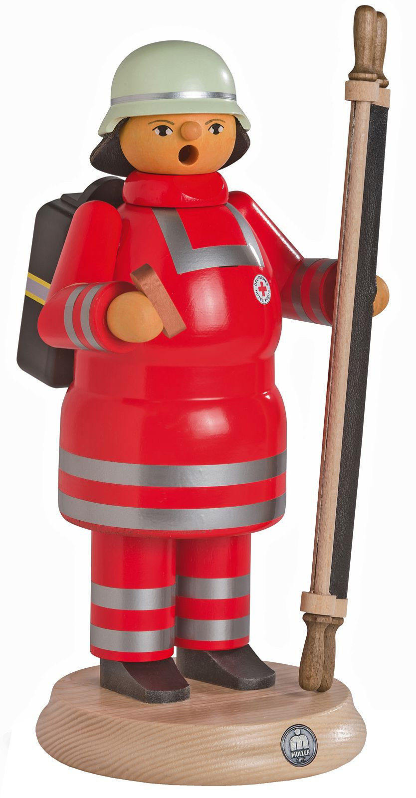 incense smoker, Red Cross ambulance man with stretcher, large