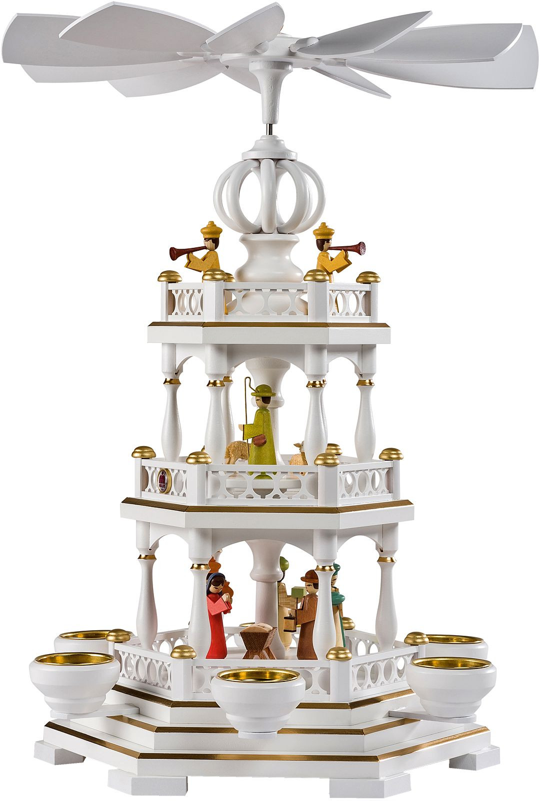 2-storeyed pyramid Nativity 2-story anniversary pyramid