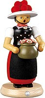 incense smoker, Black Forest woman, large