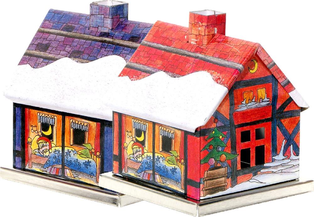 incense smoking Advent house - Santa Claus