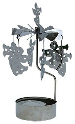 iron rotary ornaments with tealight - angel