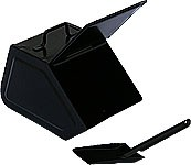 Huss coal box with shovel, black