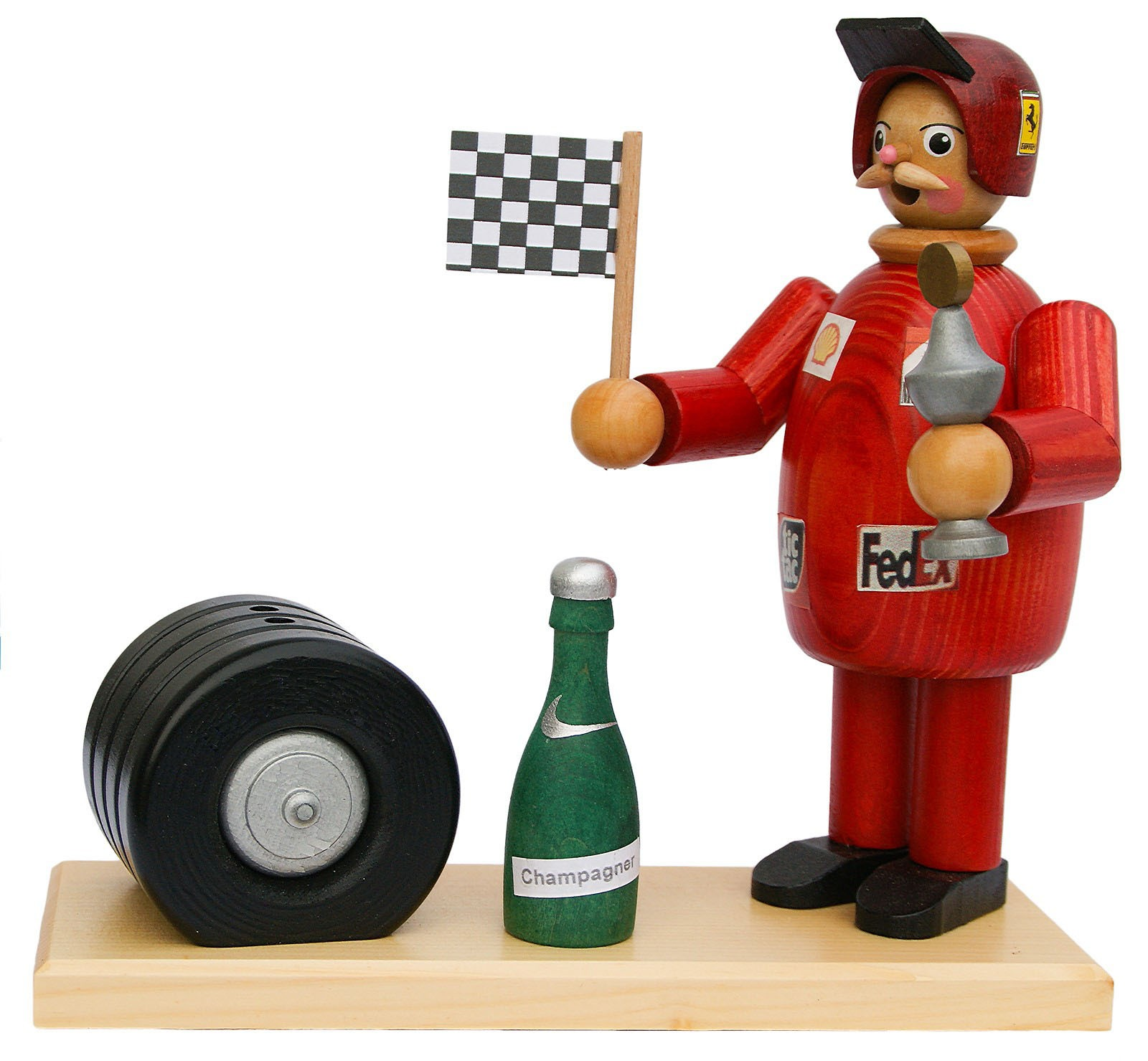 incense smoker, race driver -the winner (red)