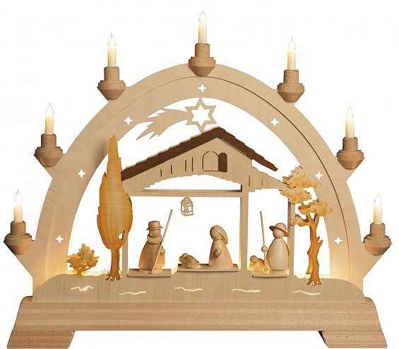 Small arch with Holy Family - modern