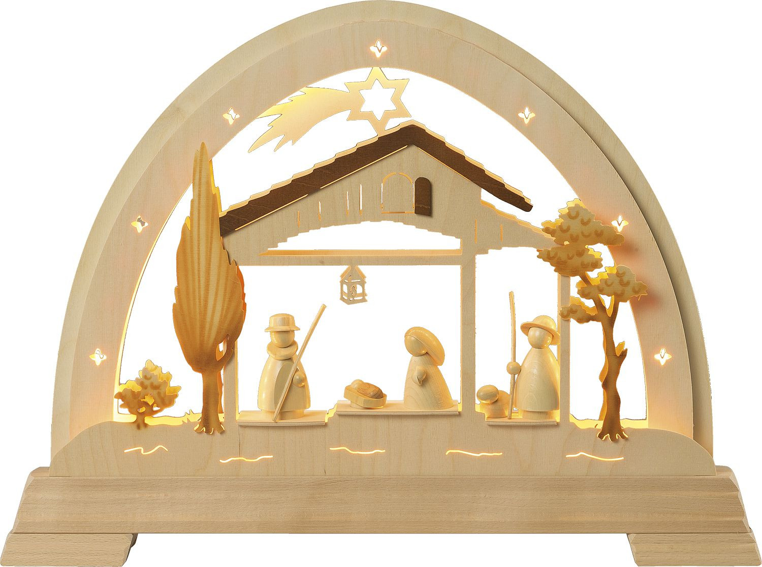 light arch with Holy Family - modern