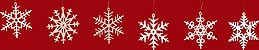 tree ornament, snow crystals 6pcs-set