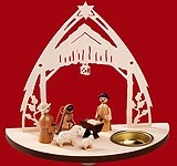 tealight candle nativity
