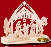 tealight candle nativity with sheepherd