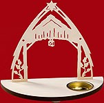 tealight candle nativity without figures