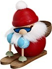 spheric incense smoker, Santa on ski