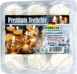 tealight, natur, 18pcs
