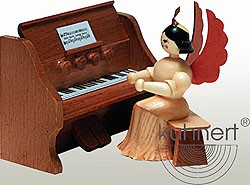 angel with reed organ, natural