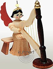 angel with harp, natural