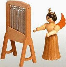 angel with chimes, natural, small