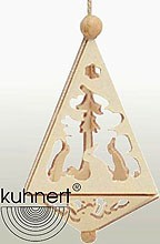 tree ornament, small pyramid