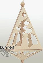 tree ornament, medium pyramid