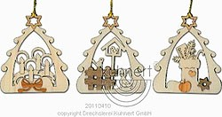 tree ornament, winter tree, 6pcs